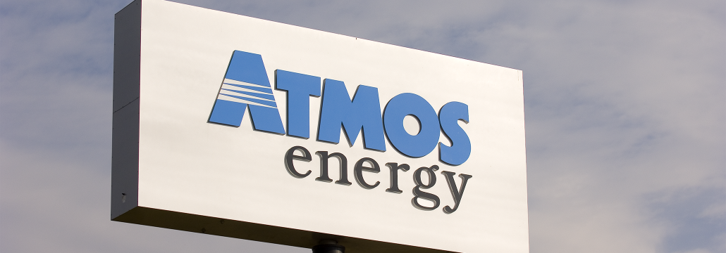 Atmos Energy service center sign in the sky