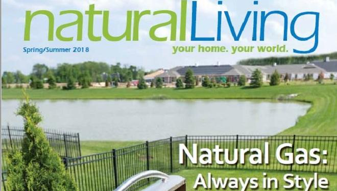 Natural Living magazine cover spring 2018